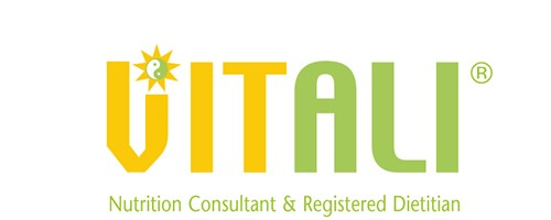 Image of the Vitali logo with Nutrition Consultant and registered Dietitian on