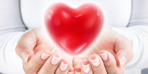 Image of a heart in two hands